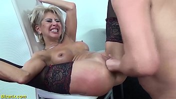 my skinny deepthroat loving stepmom gets rough pussy fisted and extreme deep anal fucked by her toyboy