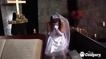 Bride To Be Tanya Cox Fucks In Church