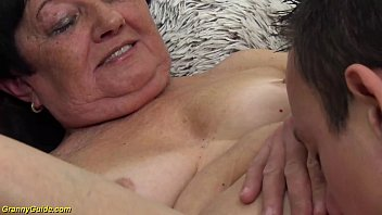 hairy extreme horny 82 years old granny gets extreme deep fucked by her young toyboy