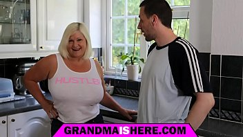 real amateur grandmother and granddaughter on webcam