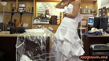Blondie pawns wedding dress and banged at the pawnshop