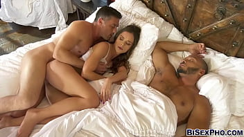 Lily Glee and her husband in a bi 3some