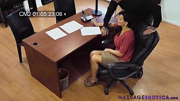 Cute MILF fucked by boss in her office