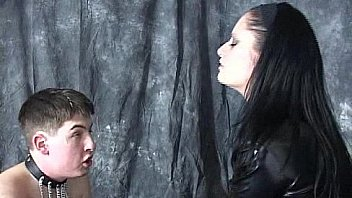 Mistress slaps her pony slave continuously on his face