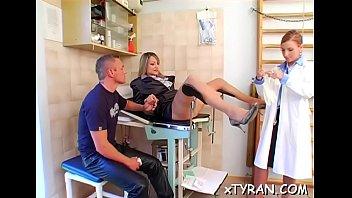 Hot mistress tortures slave