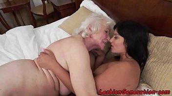 Mature lesbian granny sucks tits that interrupt