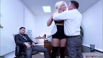 Busty blonde secretary Layla Price on her duty submits to her boss John Strong and gets anal gangbang bdsm sex together with his colleague Seth Gamble