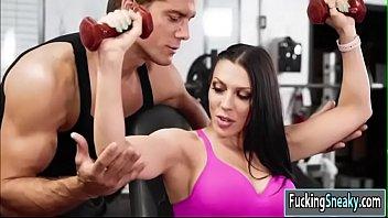 Rachel having hardcore sex in the gym