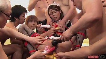 A Group Pf Horny Guys Gang Bang Hot Waitress