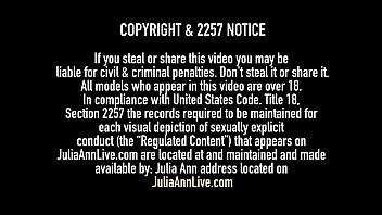 World Famous Cougar Julia Ann finger fucks her incredible mature muff & dildo drills until she creams that Cougar cunt! Full Video & Julia live @ JuliaAnnLive.com!