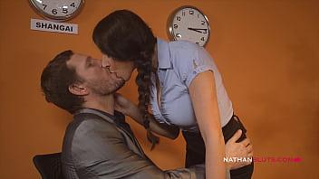 Hot Busty Italian Milf Secretary Martina Gold Takes On Her Colleague Ian Scott BIG COCK Up Her Wide Open ASSHOLE