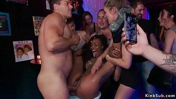 Public sex in a club