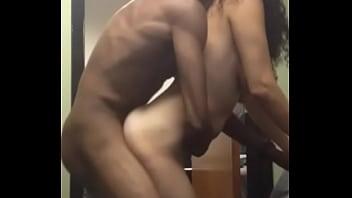 Ebony couple fucking in public