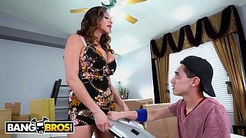 BANGBROS - Juan El Caballo Loco Gets Reprimanded By Cougar Stepmom Ariella Ferrera