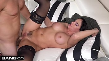 Sheena Ryder cums hard on her studs cock as he uses a vibe on her clit