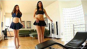 jazmin and nicole sharing a nice load of cum after hardcore sex on sperm swap