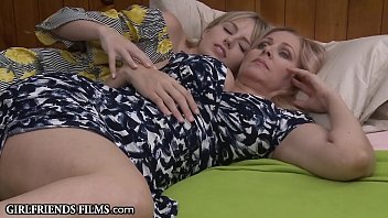Older MILF's First Lesbian Experience With Younger Teen