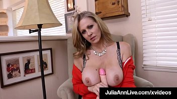 Sweet Motherly Milf Julia Ann fills her fine fuckhole with a lucky dildo, that gets bathed in her girly cum cream as she orgasms for us fans! Full Video & Julia Ann Live @ JuliaAnnLive.com! Thumbnail