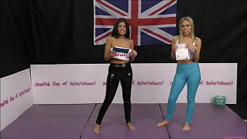 Bra & Panties Match (Wrestling) - Loser gets Diapered!