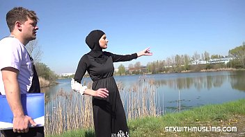 Nice muslim chick went to check the building plot they bought with her husband. Check was very successful! Not only did Stacy checked grassy area, but she also let check her juicy pussy. Hot outdoor muslim fuck