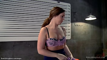 Corupted dom cop Cherry Torn anal fingers and toys lesbian inmates Maddy O Reilly and Veronica Avluv then anal fucks them with strapon in threesome