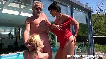 Senior Couple Finds a Horny Babe at the Spa