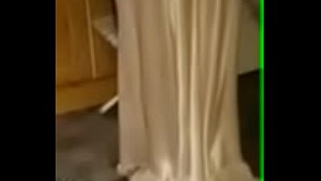 Watch Wife in her satin nightie ironing preview