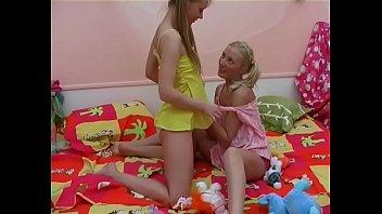 Dilettante lesbian babes like toys