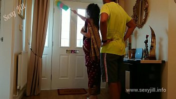 Indian red saree servant forced to fuck her boss cheating bhabhi sex