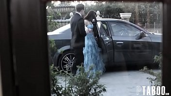 hot petite teen babe got gangbang in her first prom