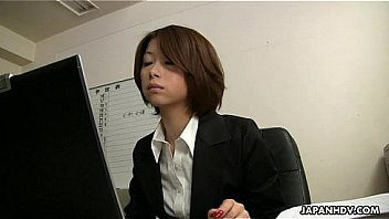 Asian office lady Tsubaki face sitting the sissy dude