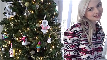 Christmas Sex With Tiny Blonde Sister