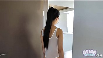 Busty Asian Teen Seduces Trainer