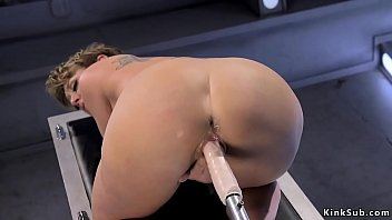 Watch Huge_tits_short_haired_Milf_Dee_Williams_shoves_huge_dildo_in_shaved_pussy_then_continues_with_fucking_machine preview
