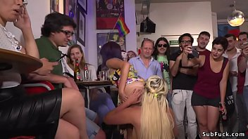 Painted_body_naked_huge_tits_Euro_blonde_slave_Sienna_Day_walked_in_public_streets_then_in_bar_pussy_fucked_doggy Thumbnail