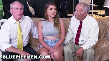 BLUEPILLMEN - Busty Babe Ivy Rose Catfished By Two Old Men