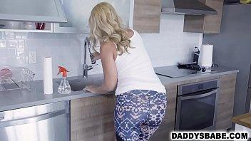 Hot milf mom fucking her perverted step son