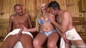 Busty Vixen Angel Wicky Rides Two Dicks In Double Penetration Sensation