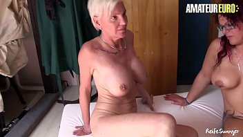 AMATEUR EURO - Afternoon Threeway Sex With Two Gorgeous Women (Lea Luestern & Hiltrude)