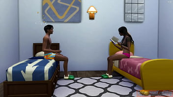 Indian Brother catch His Sister Solo In their room - indian school girl - teen girl