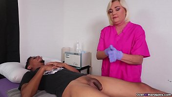 The worlds population is in decline and Sperm Banks accross the world are stockpiling loads of cum from horny young dudes and Billy is no exception. Paris Rose jerks him off in a specimen cup.