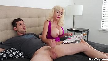 Mrs. Lobov is reluctant to give a handjob to Billy so she reads her good housekeeping mag