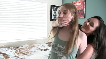 Foot slut with hands tied gets fucked with a strapon Lesbian Strap On Search Xnxx Com