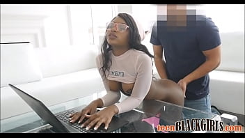 Young Black Ebony Teen With Big Ass And Big Tits Noemie Bilas Fucked By White Guy POV