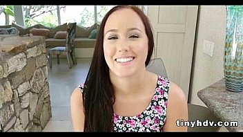Petite tiny girl drilled Holly Hudson 91