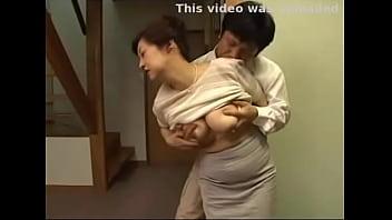Japanese step mom milf with big tits getting pleasured