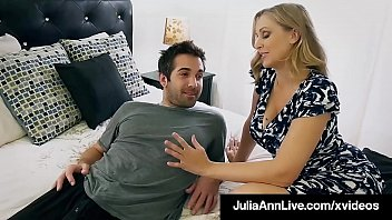 Watch Beautiful Step Mom Julia_Ann, slobbers on her Step Son's hard young dick & shoving it into her moist mature muff, until he dumps his cum on her face! Full Video & Julia Live @ JuliaAnnLive.com! preview