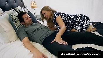 Watch Beautiful Step Mom Julia Ann, slobbers on her Step Son's hard young dick & shoving it into her moist mature muff, until he dumps his cum on_her face! Full_Video & Julia Live @ JuliaAnnLive.com! preview