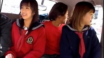 Airin Okui and chick in school uniform suck boners