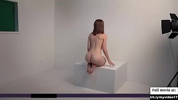 Beautiful cute blond girl nude photoshoot